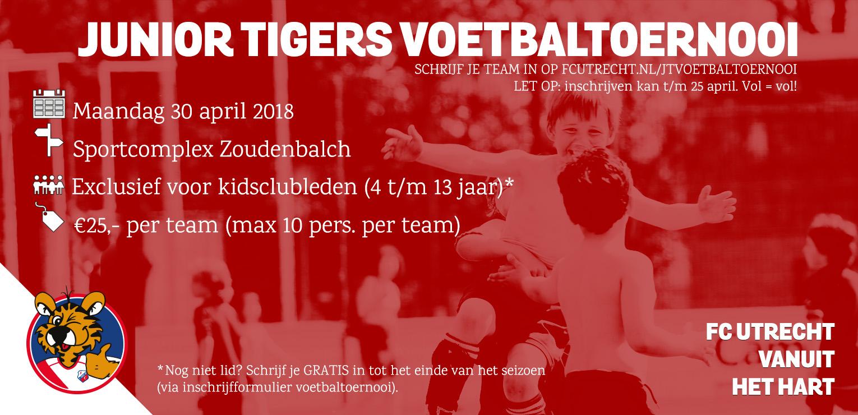 FC Utrecht Junior Tigers Voetbaltoernooi