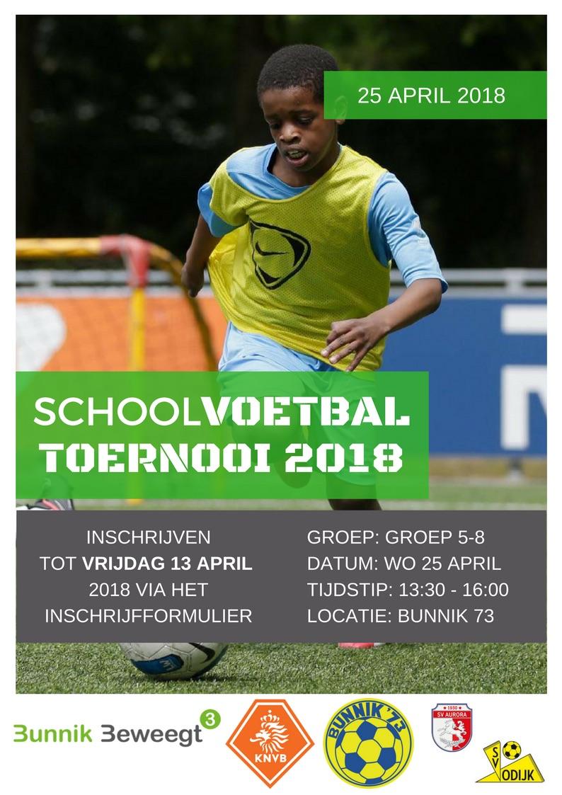 Schoolvoetbaltoernooi 2018 - 25 april