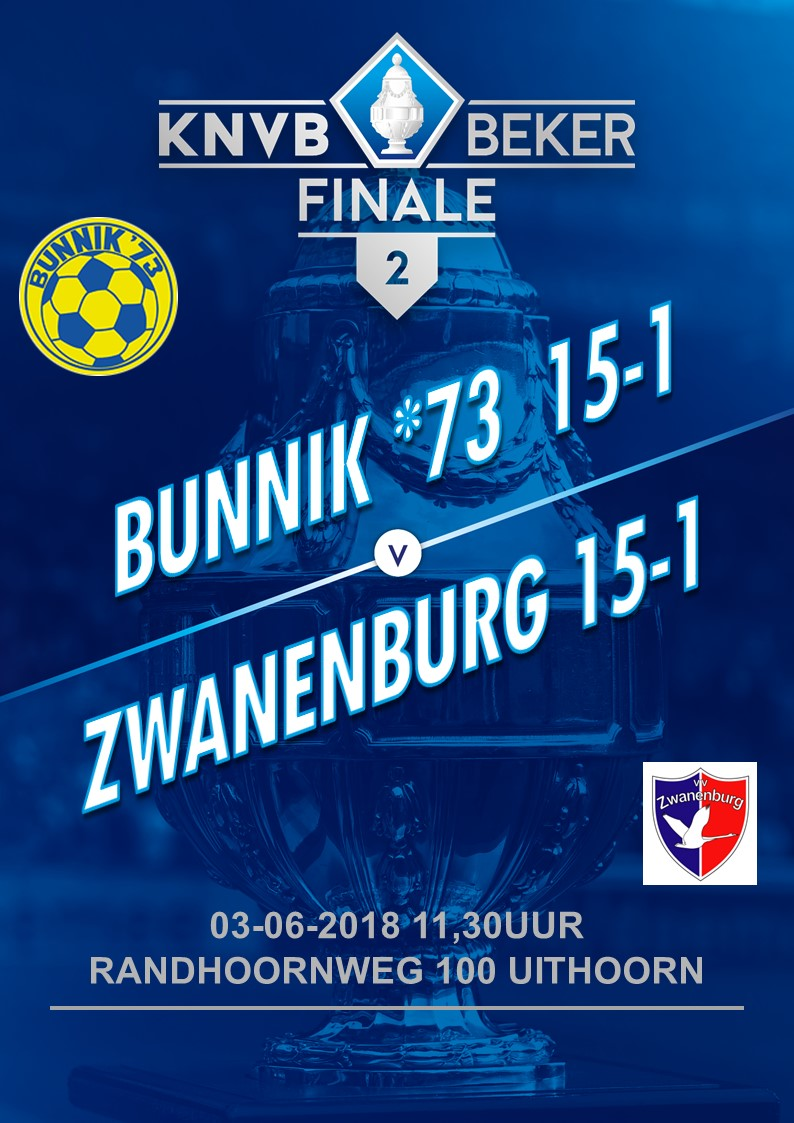 03 Juni FINALE KNVB BEKER