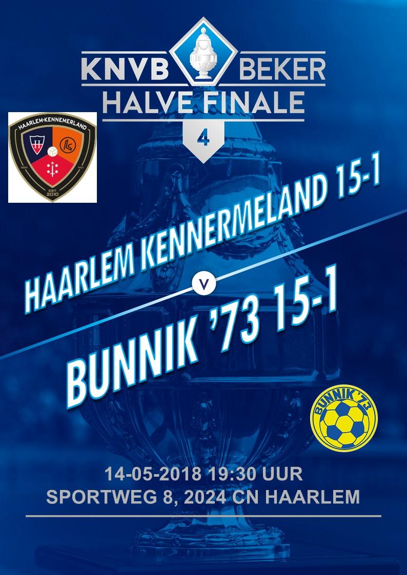 O15-1 speelt Maandag 14 Mei de halve finale in Haarlem tegen Haarlem-Kennemerland O15-1