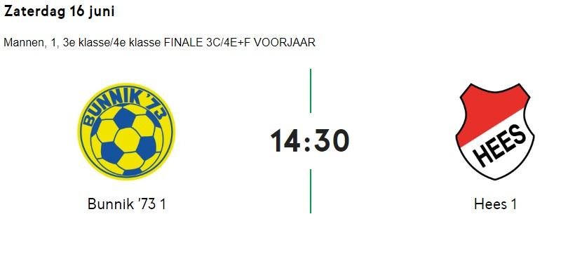 Heren 1 speelt zaterdag 16 Juni om 14:30 de finale van de nacompetitie THUIS(!) We hebben alle supporters nodig!