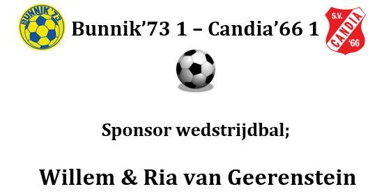Willem & Ria van Geerenstein sponsoren wedstrijdbal